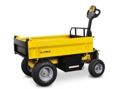 Alitrak Elektrische dumper JT-301L E op 4 wielen, laadvermogen van 300 kg, vlakke laadbak - V-Pro Power Equipment